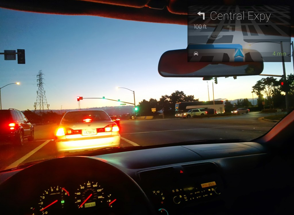 What navigation through Glass looks like
